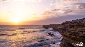coucher de soleil sur la falaise de sidi kaouki