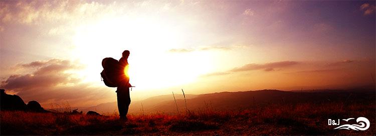 coucher de soleil parapente