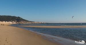 plage de Moledo vue du spot de kitesurf