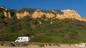 falaise et plage Fonte da telha portugal