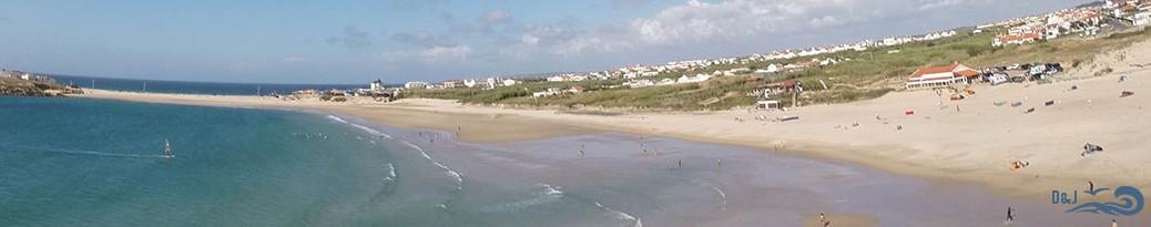 vue d'enseble de la plage de Peniche Baleal