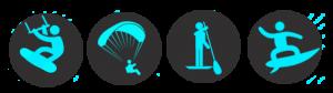 logo kitesurf parapente paddle surf
