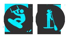 logo Kitesurf et logo SUP