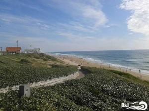 Vue de la plage de biscarosse